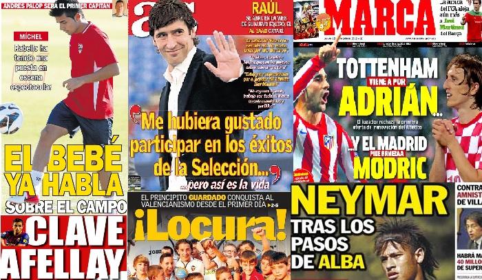 Las portadas del 12 de julio de 2012