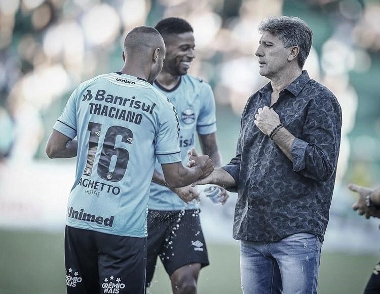 """Renato elogia Grêmio após goleada contra Juventude: """"Um dos melhores ataques do Brasil"""""""