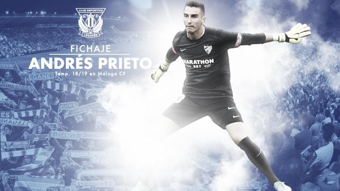 Andrés Prieto, nuevo portero del CD Leganés