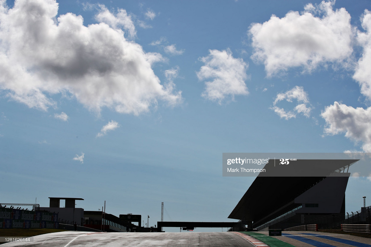 A general view on track during previews ahead of the F1 Grand Prix of Portugal at Autodromo Internacional do Algarve in Portimao, Portugal. (Photo credit: Mark Thompson, Getty Images)