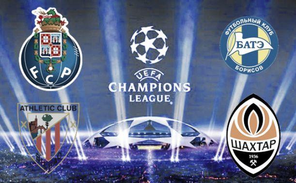 FC Porto no grupo H com Shakhtar, Athletic Bilbau e Bate Borisov