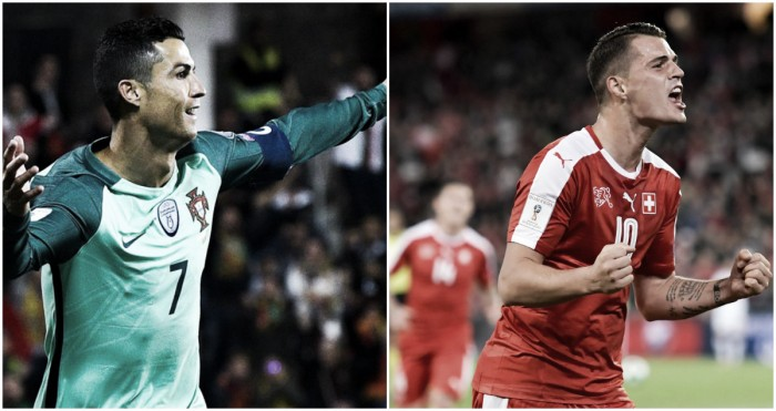 Portogallo-Svizzera in diretta, LIVE Qualificazioni Russia 2018 - Djourou (A), A. Silva (2-0)