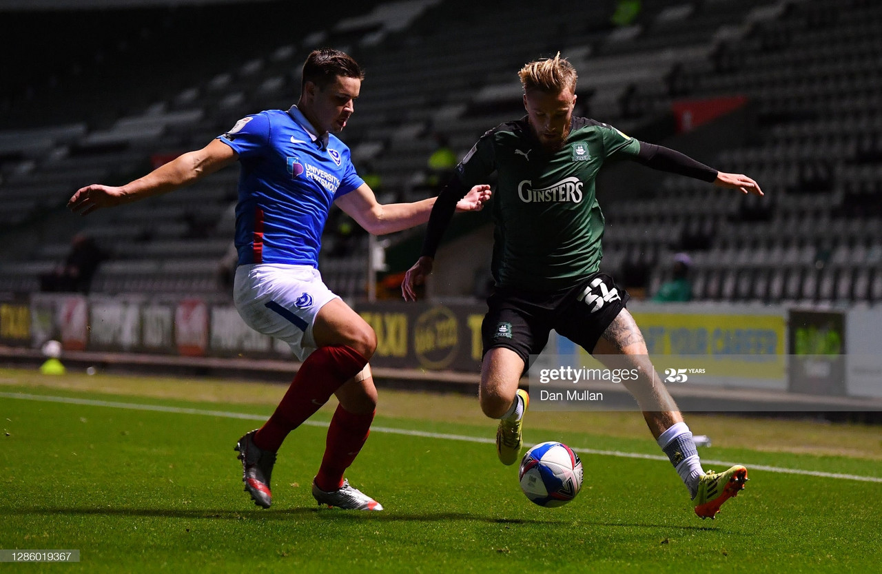 Plymouth Argyle 2-2 Portsmouth: Honours even in Dockyard derby
