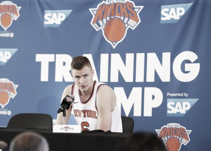 """Kristaps Porzingis """"Quería quedarme en Nueva York y ser un Knick"""""""