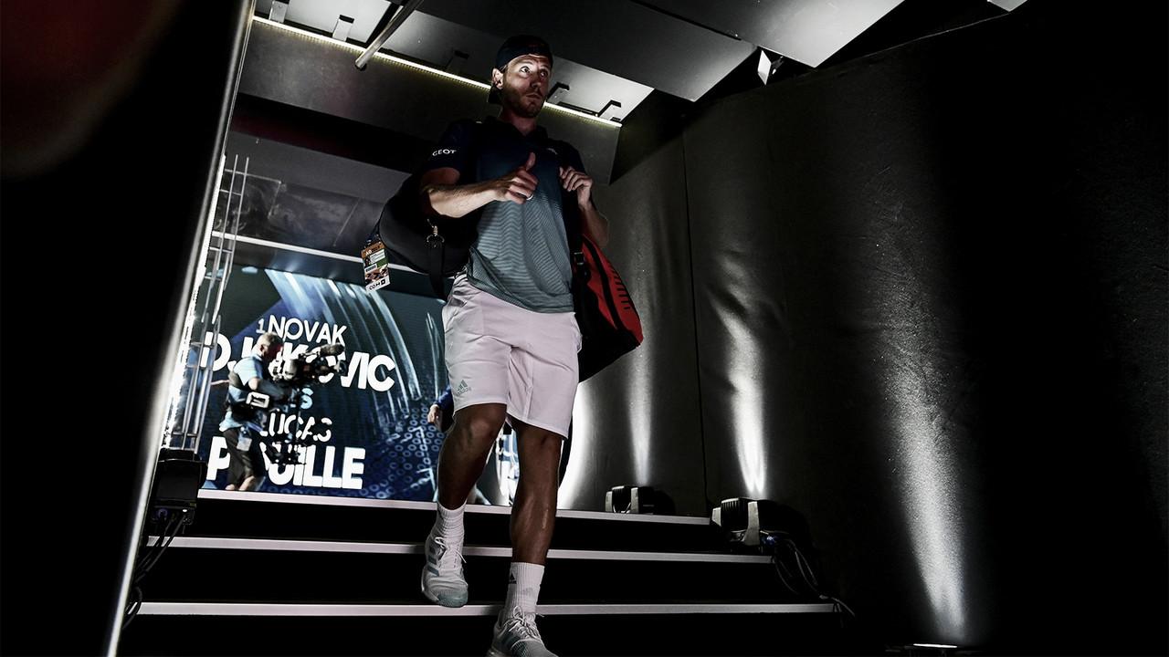 "Pouille prefere valorizar pontos positivos após derrota dura para Djokovic: ""Ele foi incrível hoje"""