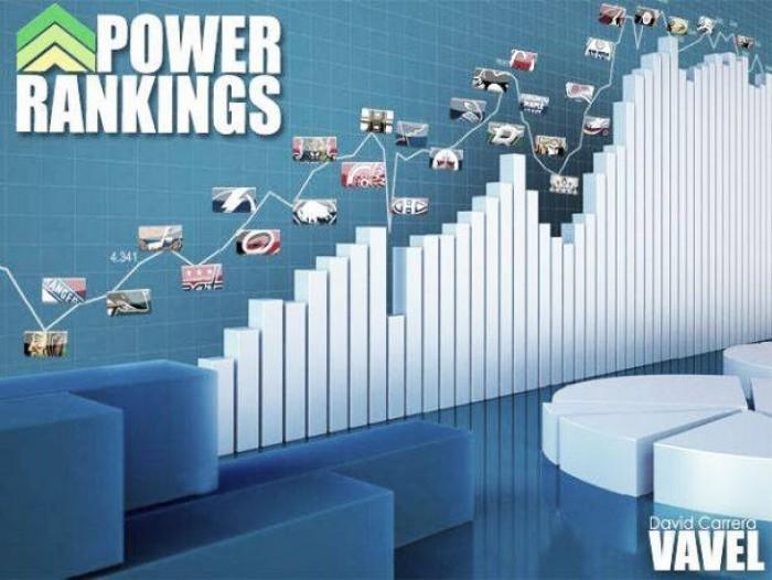 NHL Power Rankings 17/18 Semana 16