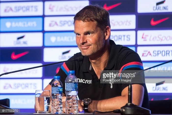 Frank de Boer speaks ahead of first Premier League Asia Trophy fixture
