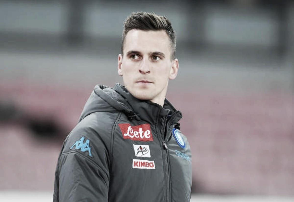 Atacante do Napoli, Milik admite que ainda não está 100% fisicamente