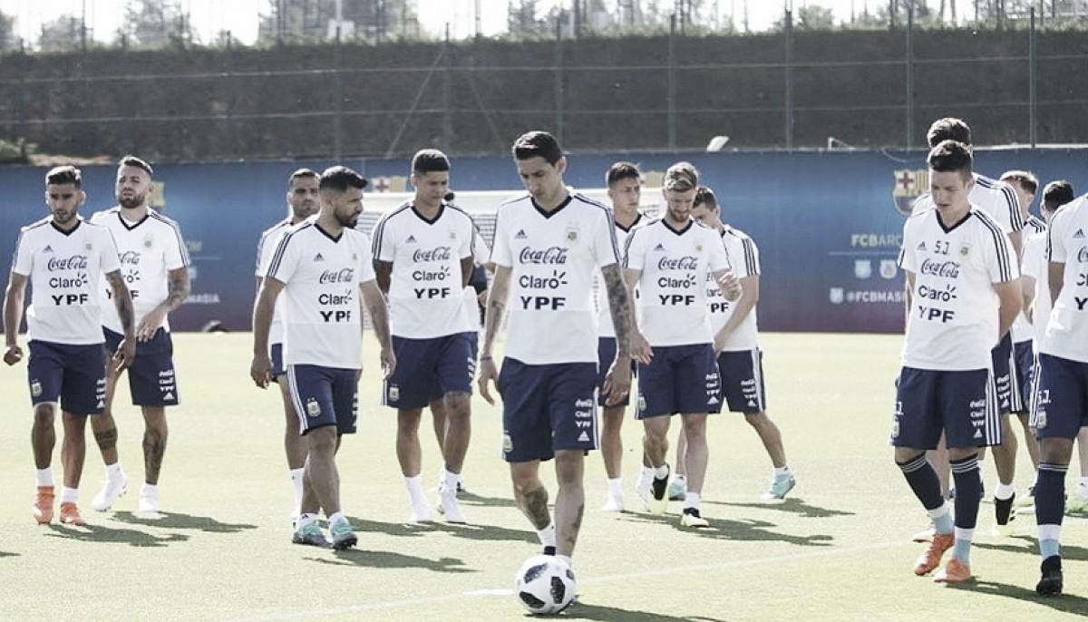El último entrenamiento en Barcelona