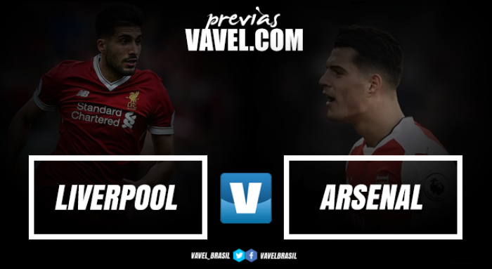 Liverpool e Arsenal se enfrentam em clássico inglês pela Premier League