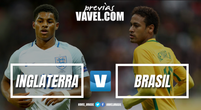 Brasil encerra 2017 contra desfalcada Inglaterra em Wembley