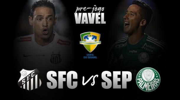 Na Vila Belmiro, Santos e Palmeiras iniciam disputa pela Copa do Brasil de 2015
