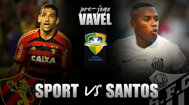 Com força máxima, Sport e Santos se enfrentam na terceira fase da Copa do Brasil