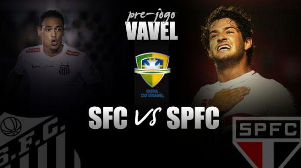 """Pré-jogo: Com um pé na final, Santos prega atenção para evitar """"milagre"""" são-paulino na Copa do Brasil"""