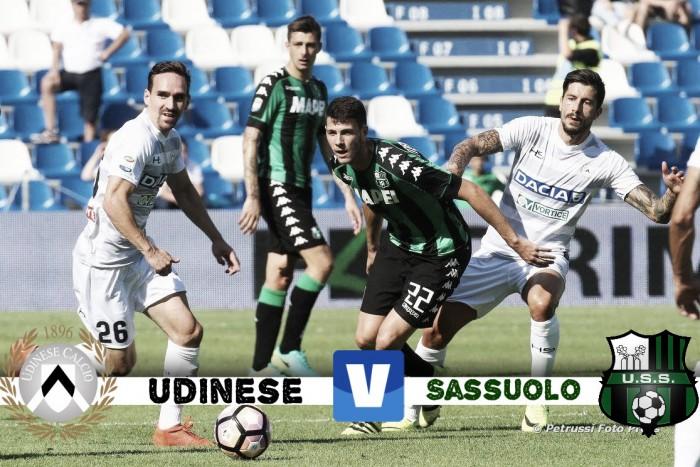 Serie A - Scontro diretto a metà classifica tra Udinese e Sassuolo