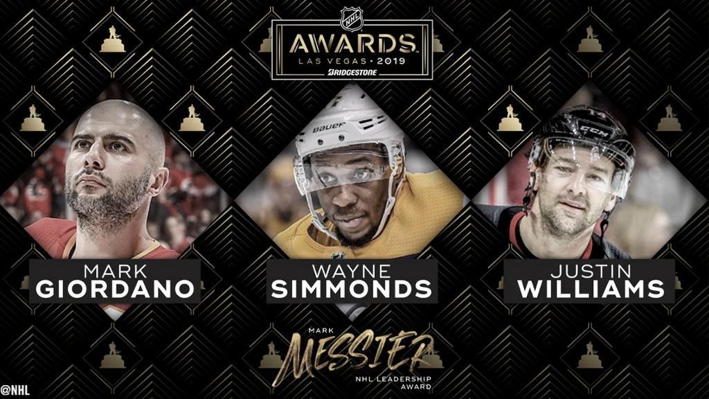 Giordano, Simmonds y Williams, candidatos al trofeo Mark Messier