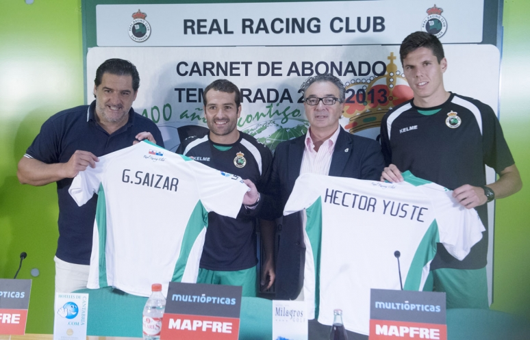 Yuste y Saizar presentados en El Sardinero