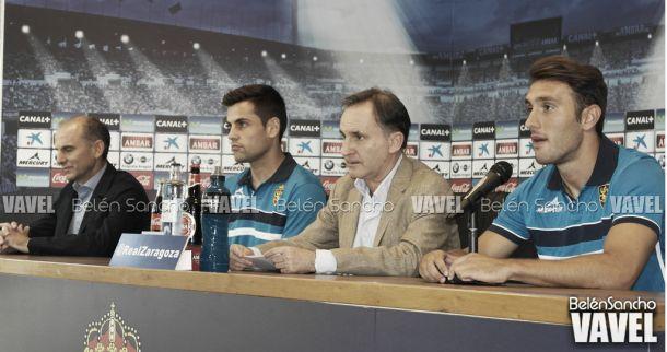 Fotos e imágenes de la presentación de Eldin y Dorca con el Real Zaragoza