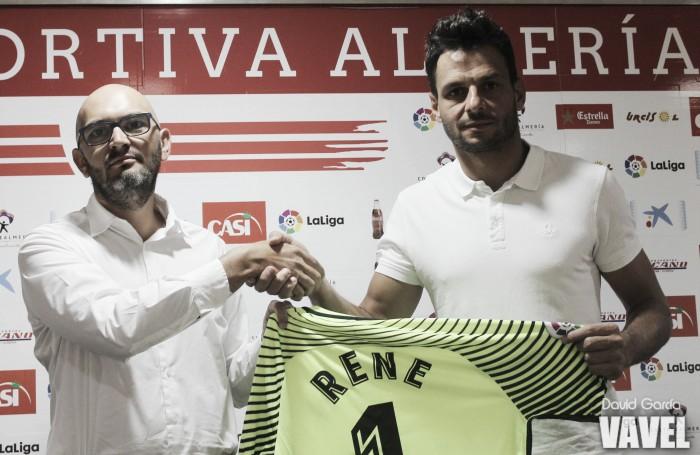 """René Román: """"El Almería es uno de los clubes grandes de la categoría"""""""