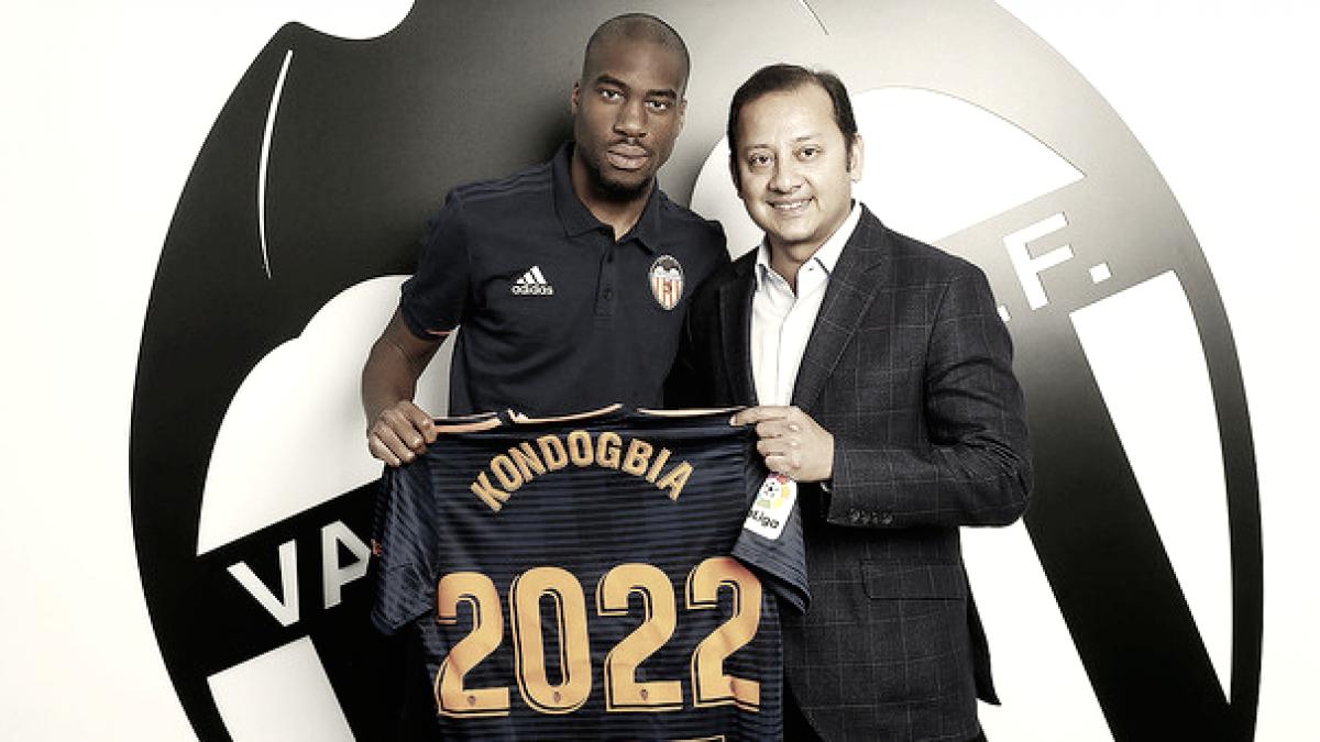 El Valencia ficha a Kondogbia y será valencianista hasta 2022