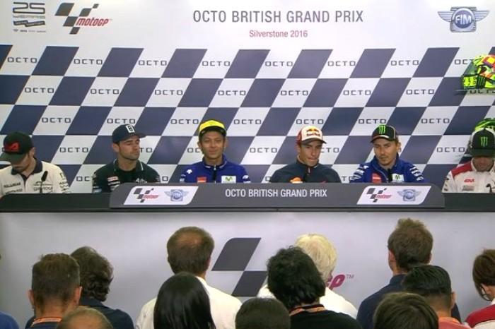 MotoGP: la conferenza stampa dei piloti a Silverstone