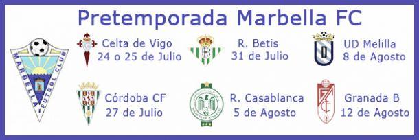 Córdoba, Celta, Betis y Casablanca serán algunos de los rivales del Marbella en pretemporada
