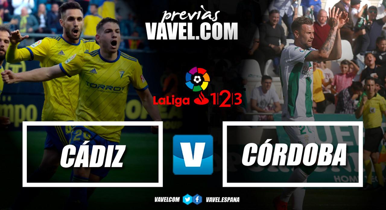 Previa Cádiz CF - Córdoba CF: tres puntos necesarios para diferentes objetivos