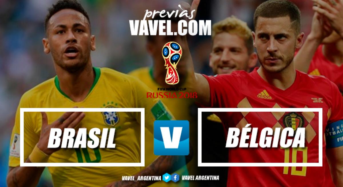 Previa Brasil - Bélgica: uno sigue, el otro se va