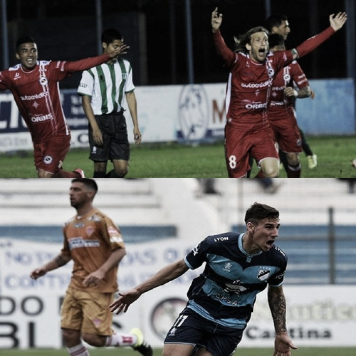 Argentinos no gana desde el 2-1 a Estudiantes SL; Brown viene de triunfar vs Los Andes (Fotomontaje).