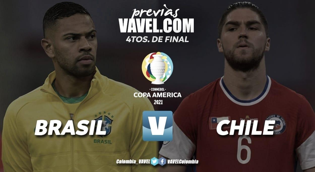 Brasil-Chile: Duelo de cuartos de final