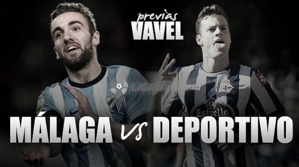 Málaga-Deportivo de La Coruña: acercarse o alejarse