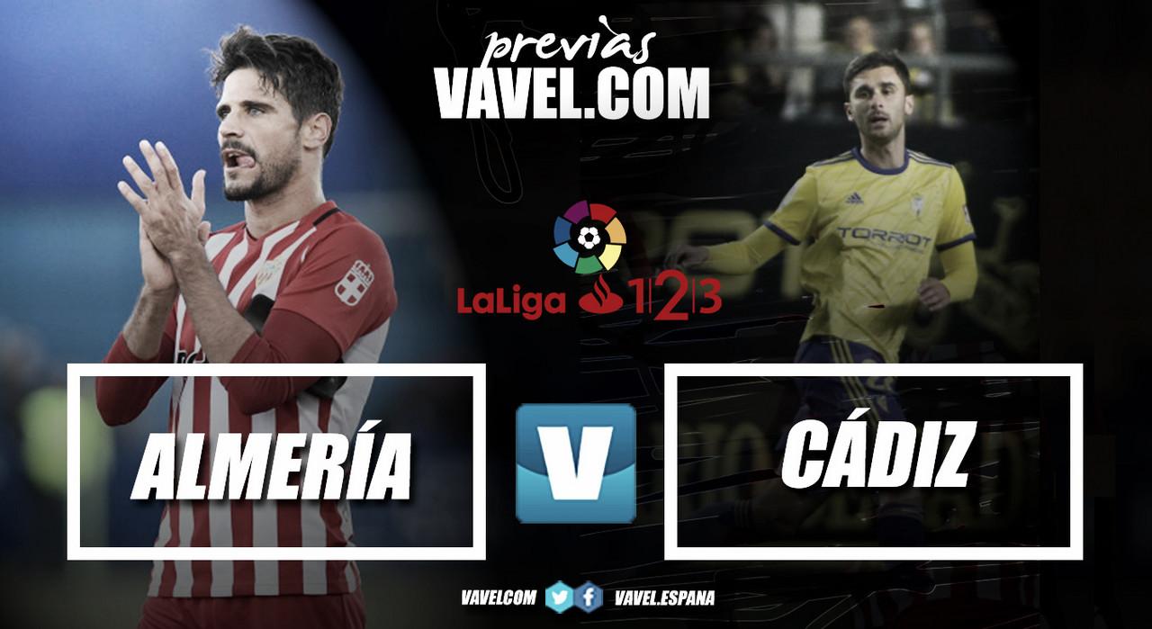 Previa Almería-Cádiz: derbi andalúz en busca del playoff