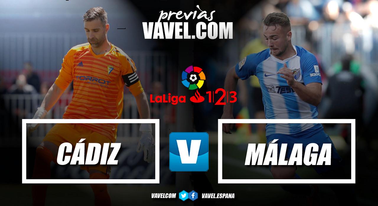 Previa Cádiz CF - Málaga CF: Para estar en la cima hay que sufrir