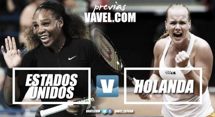 Fed Cup 2018. Previa Estados Unidos - Holanda: Serena acapara los focos