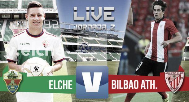 Resultado Elche - Bilbao Athletic en Segunda División 2015 (2-1)
