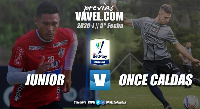 Previa Junior de Barranquilla vs. Once Caldas: Los 'rojiblancos' defenderán su casa ante un 'blanco blanco' con ansias de triunfo