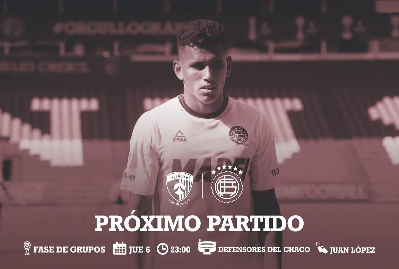 Copa Sudamericana: Lanús en busca de volver al triunfo contra La Equidad en Paraguay.