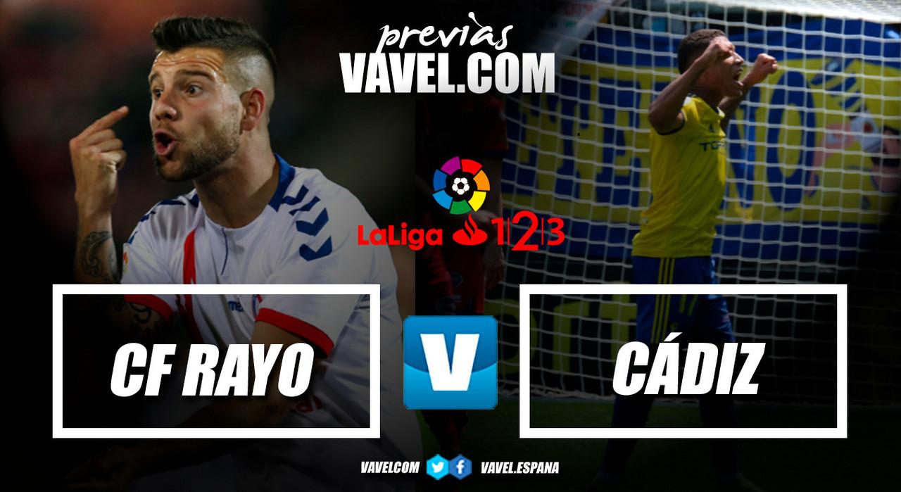 Previa CF Rayo - Cádiz CF: una victoria para seguir en lo más alto