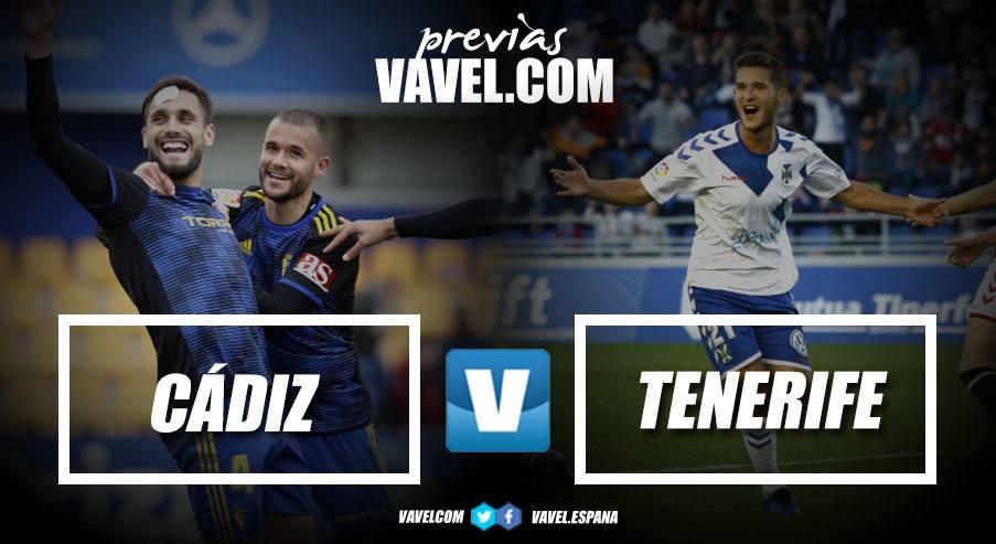 Previa Cádiz CF - CD Tenerife: a seguir sumando