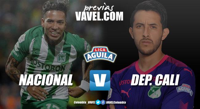 Previa Atlético Nacional vs Deportivo Cali: Duelo directo por la clasificación