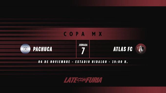 Previa Pachuca - Atlas: Por el pase a octavos de final en Copa MX
