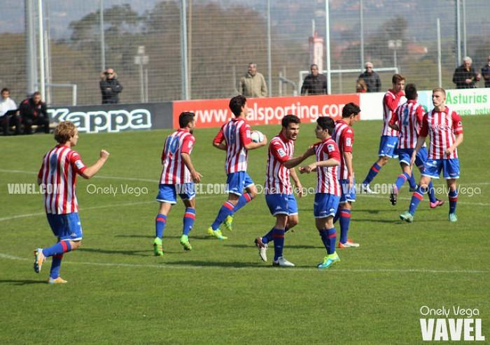 Sporting de Gijón B - CD Izarra: tres puntos para la tranquilidad