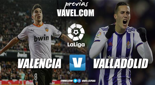 Previa Valencia C.F - Real Valladolid : dos estados de ánimo muy diferentes
