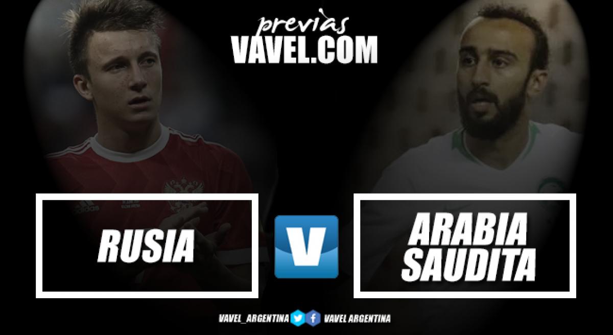 Previa Rusia vs Arabia Saudita: por una inauguración triunfal