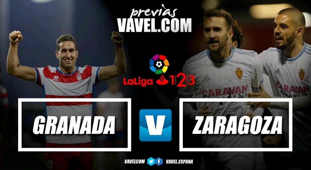 Previa Granada CF - Real Zaragoza: una historia con aroma de Primera
