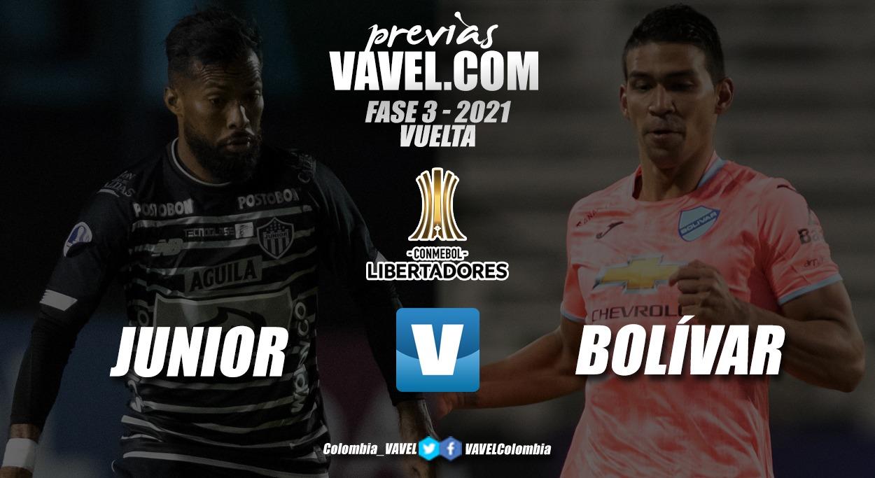 Previa Junior vs Bolívar: definición del último cupo a la fase de grupos de la Libertadores