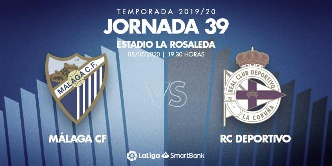 Previa Málaga CF - Deportivo: empieza la cuenta atrás