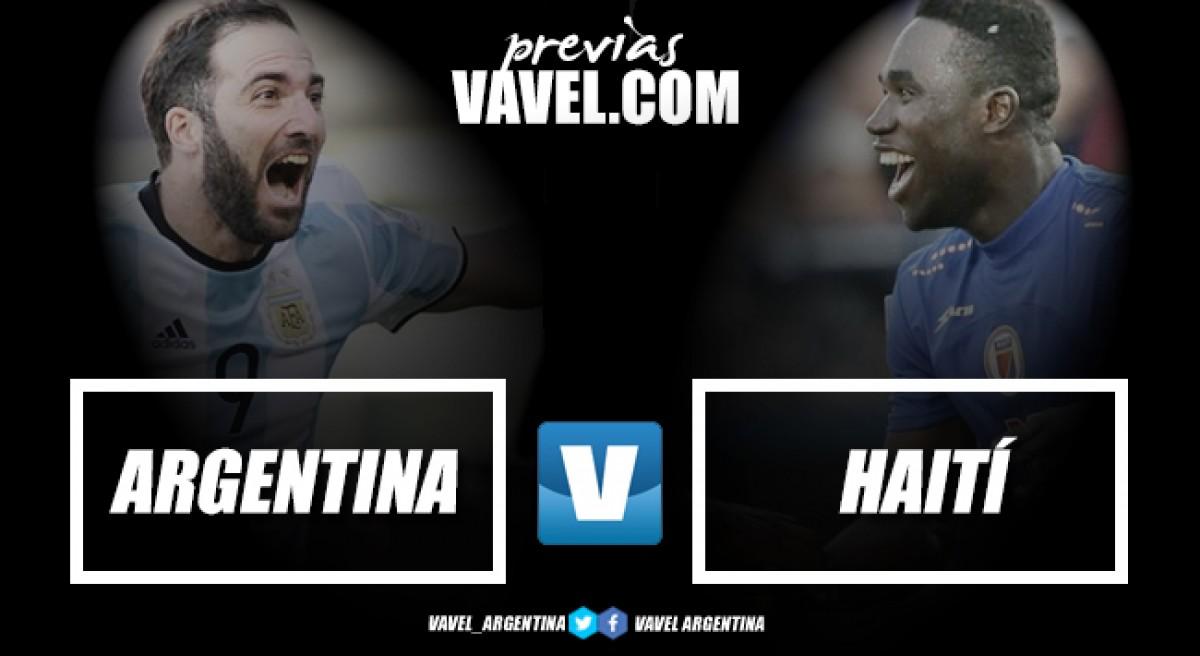 Previa Argentina vs Haití: despedida ante su gente
