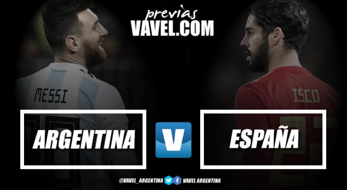 Previa Argentina - España: duelo de candidatos