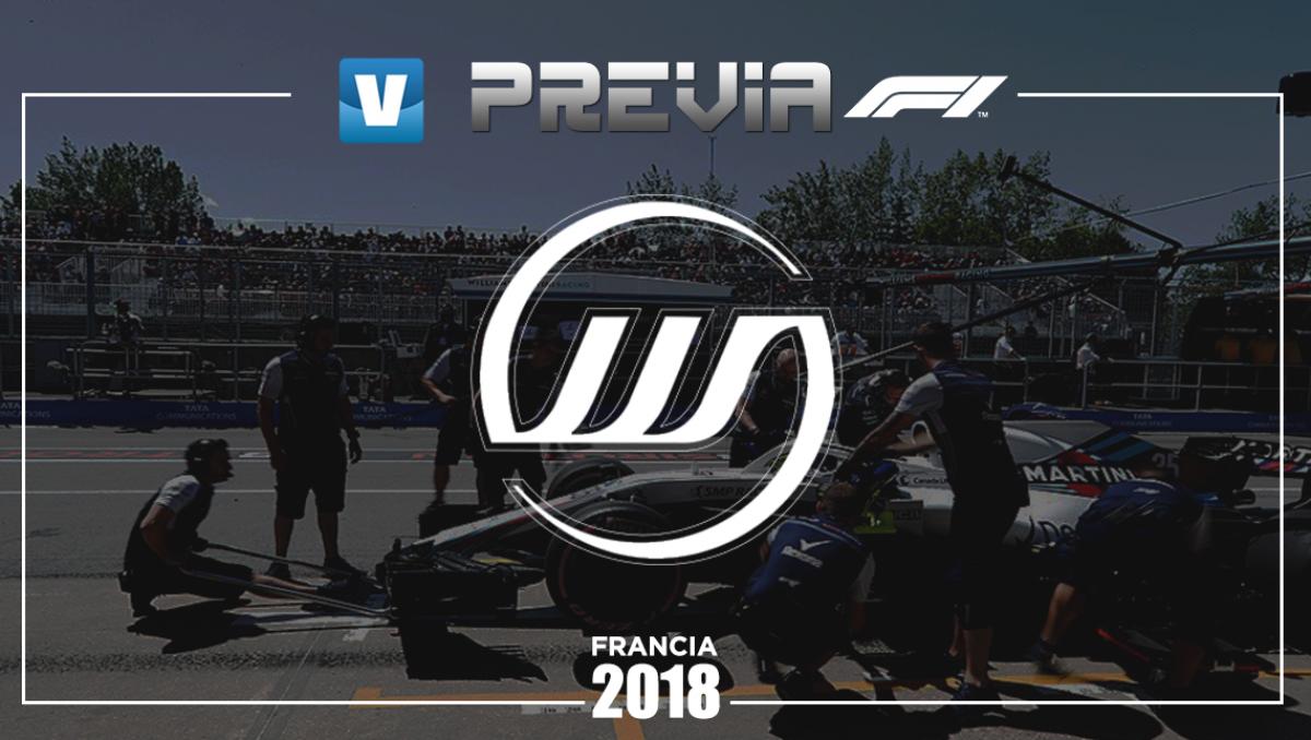 Previa de Williams en el GP de Francia 2018: ¿Saldrán del abismo?